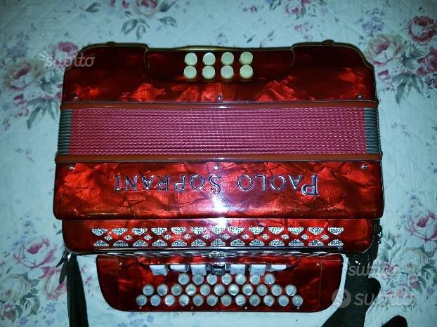 Organetto Paolo Soprani 8 bassi e 7 registri