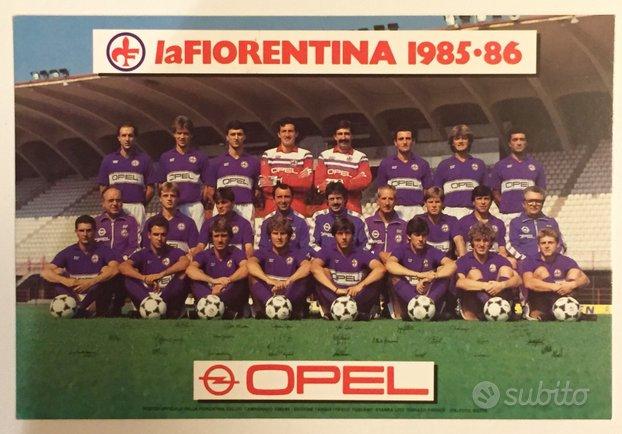 Cartolina squadra calcio Fiorentina