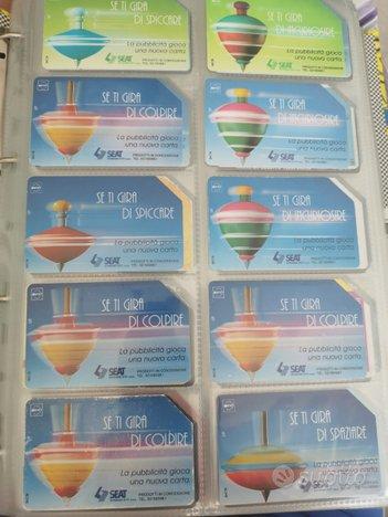 Collezione 800 schede telefoniche anni 80 90