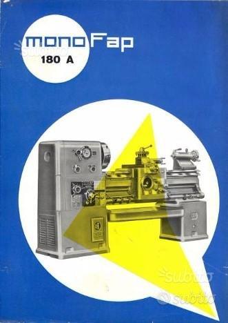 Tornio Anselmi Monofap 180 A EA Manuale - Mono FAP
