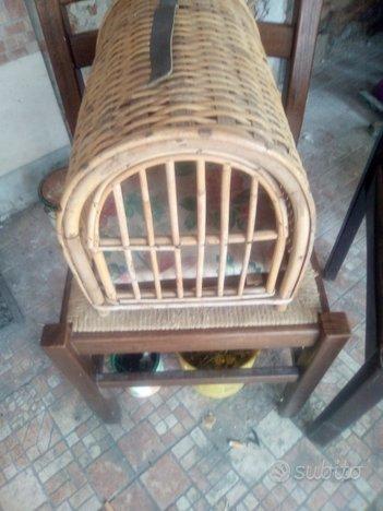Trasportino vintage in bambù