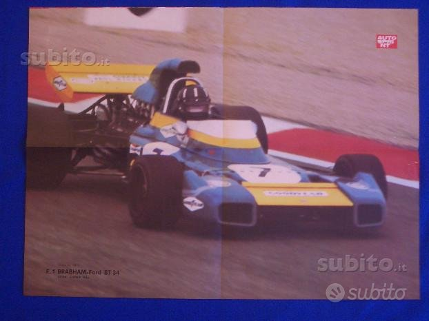 EXC.POSTER AUTOSPRINT 1971: F.1 BRABHAM-Ford BT 34