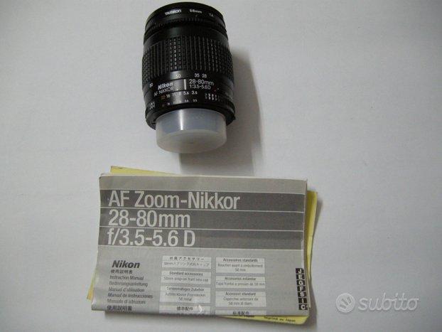 Obbiettivo Nikon 28-80 mm f/3.5-5.6 D AF Zoom