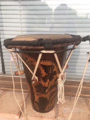 Tamburo etnico artigianale marocchino