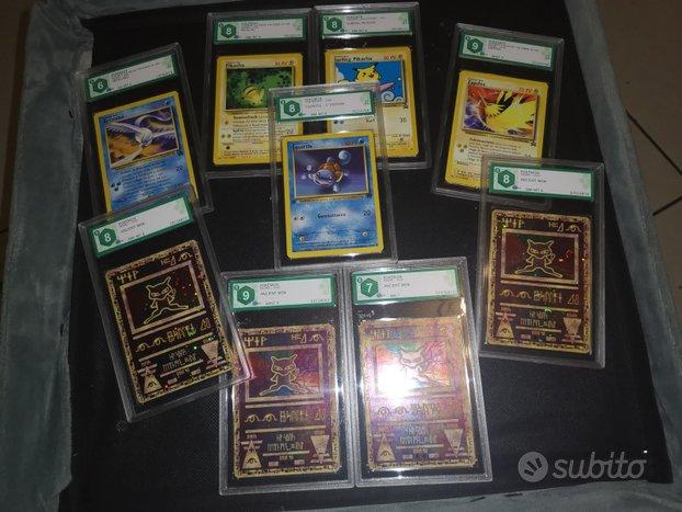 Mega lotto carte pokemon raw e gradate