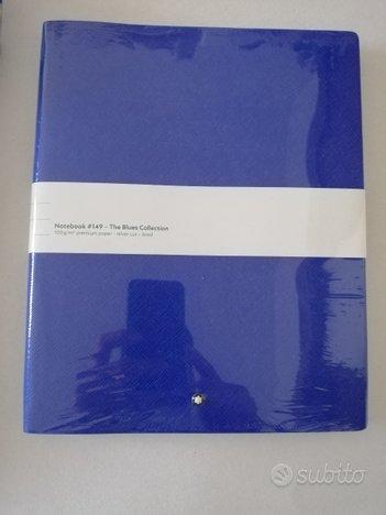 Montblanc blocco note blu oltremare