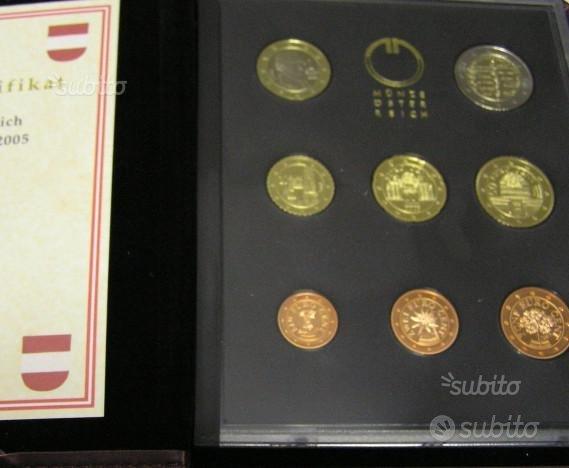 Serie divisionale Austria 2005 proof fondo sp