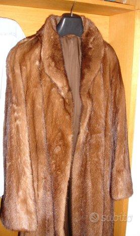 Pelliccia donna visone lunga poco usata