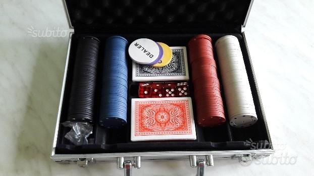 Valigetta in metallo con set da poker