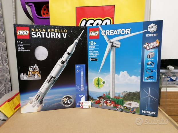 Lego 21309 Saturn V + 10268 Pala Eolica MISB nuove