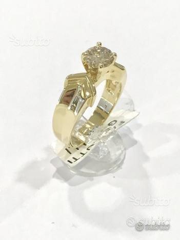 Anello Solitario oro18kt diamante naturale CT1.05