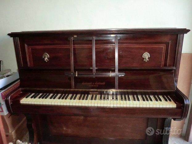 Pianoforte verticale 1850 collard & collard avorio