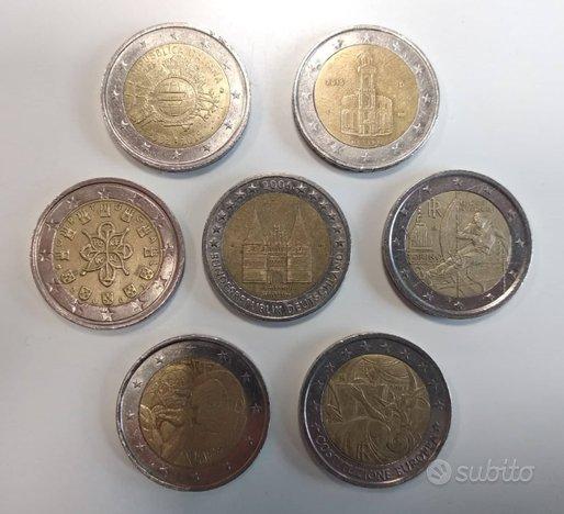 Lotto 7 Monete 2 Euro Europee e Commemorative