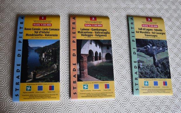 Cartine sentieri Lombardia Canton Ticino 1-2-3