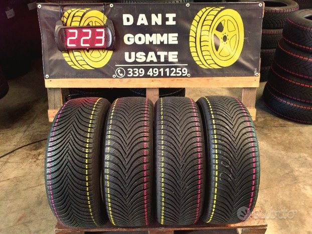 4 Gomme Usate 205 55 17 INVERNALI 85/90% MICHELIN