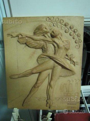 Scultura quadro terracotta