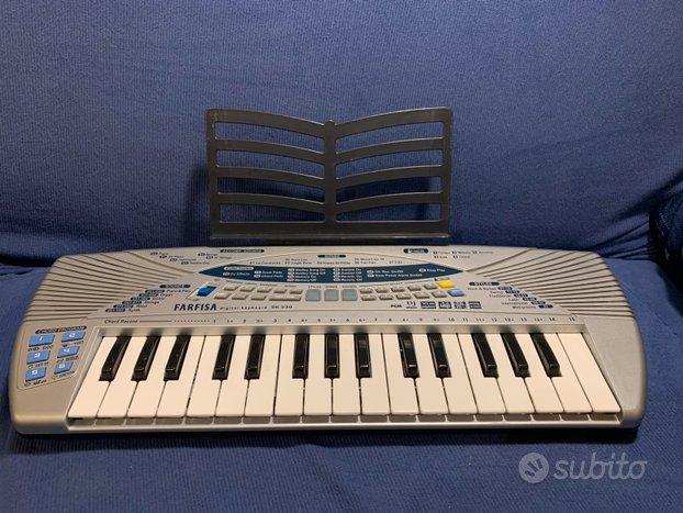 Tastiera musicale 32 tasti Farfisa + cover + libro
