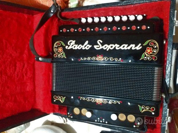 Organetto Paolo Soprani 2 bassi tonalità LA FLAUTA