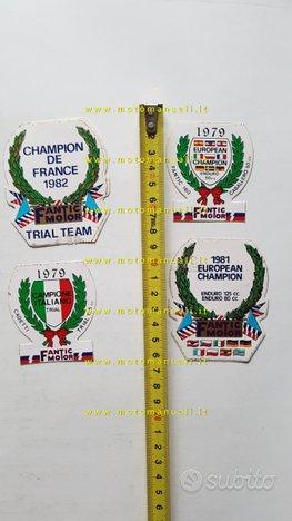 Fantic lotto 4 adesivi pubblicitari anni 80 epoca
