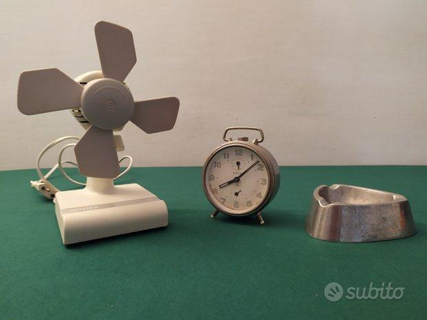 Ventilatore - sveglia- posacenere anni 50/60