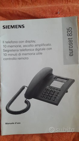 SIEMENS Euroset 835 Manuale telefono fisso