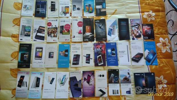 Opuscoli Pubblicitari Telefonia anni 2000-2018