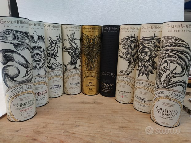 Whisky Game of Thrones Collezione completa