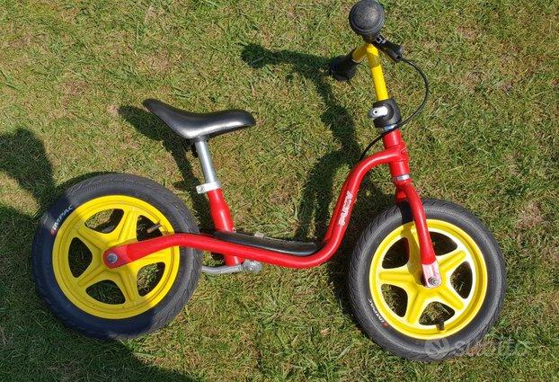 Bici PUKY senza pedali con freno e cavalletto