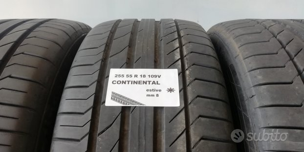 Gomme estive 255 55 r 18 continental usate