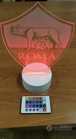 Lampada 3d As Roma led rgb
