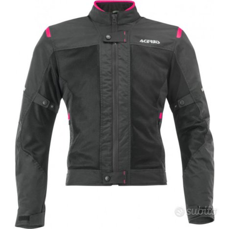 Giacca acerbis ramsey vented lady nero-rosa