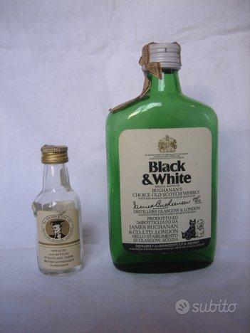 Bottiglie Scotch Whiski Black & White Vintage