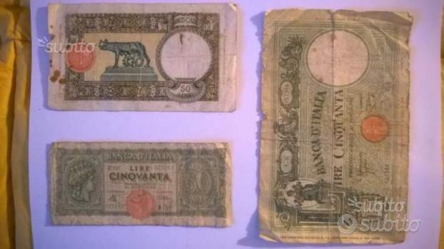 Carta moneta lire Italia