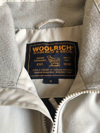 Giubbotto woolrich originale M bianco avorio