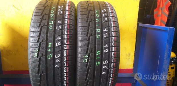 2 gomme usate 225 45 19 nokian 4 stagione