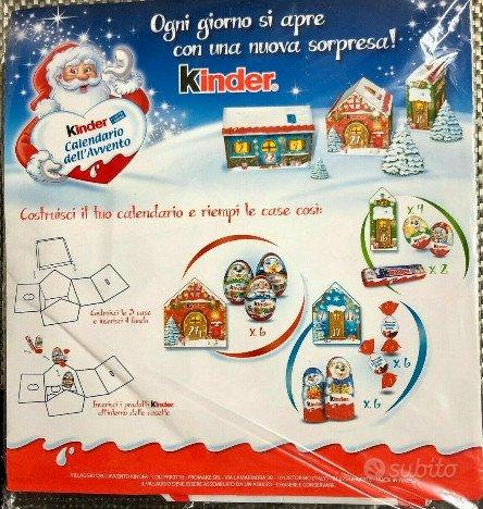 """Kinder ferrero calendario """"Villaggio dell'avvento"""""""