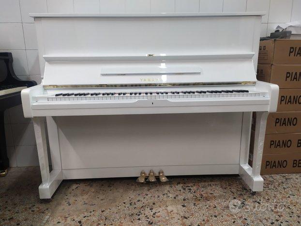 Pianoforte Yamaha U1 H bianco trasporto incluso