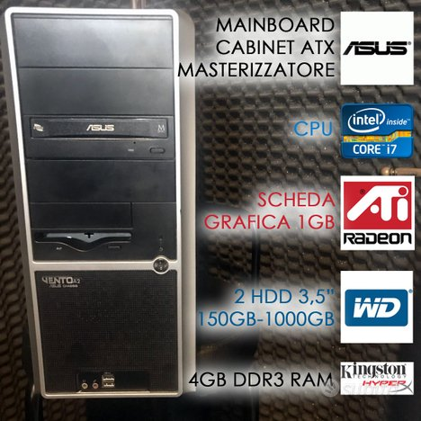 Pc asus assemblato intel core 7-920 2,66 ghz 2hdd