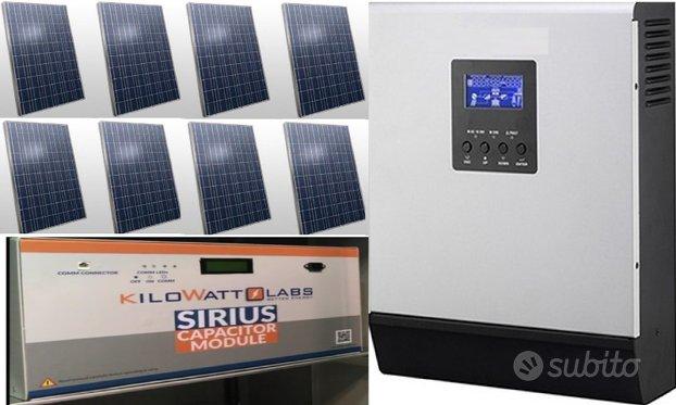 Fotovoltaico 2 Kw accumulo grafene 45 anni di vita