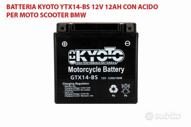 Batteria kyoto ytx14-bs 12v 12ah acido moto bmw