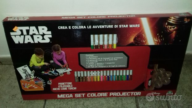 Mega set colori projector star wars