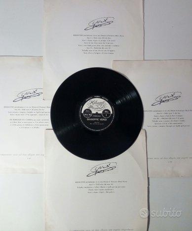 G. Verdi. Il Rigoletto. 4 LP Fabbri Editori