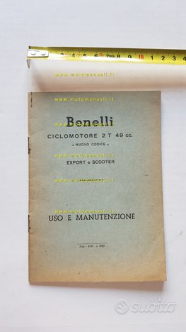 Benelli 50 Scooter - Normale 1960 manuale uso