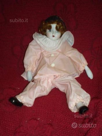 Bambola da collezione Pierrette in Porcellana '80
