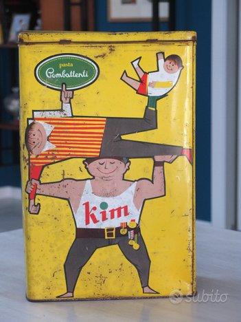 Scatola latta Pasta Combattenti Kim anni '60
