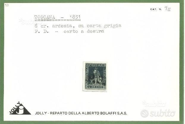 Antichi Stati, Toscana, 6 crazie annullo P.D
