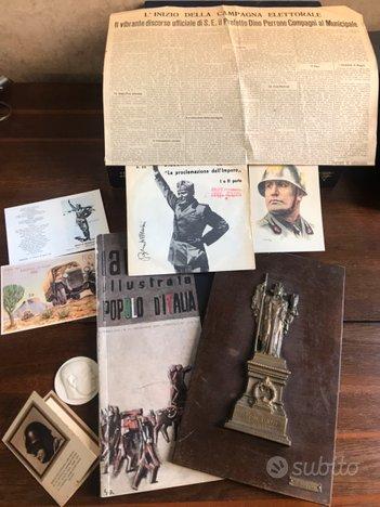 WWII cartoline santino 45 giri duce rivista