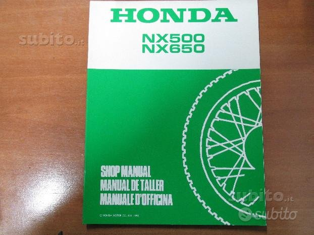 Supplemento manuale officina Honda XR500\650 '90