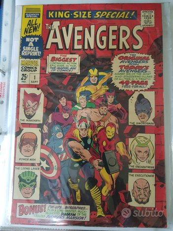 Fumetto vintage Marvel The Avengers n.1 1976