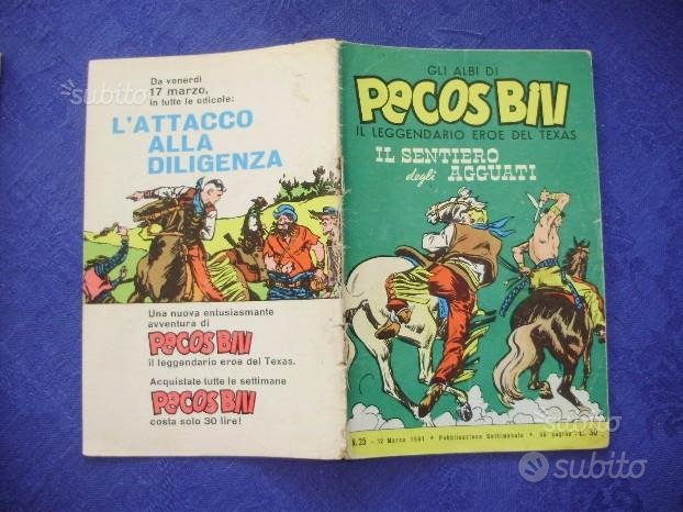 Fumetto PECOS BILL numero 25 originale del 1961